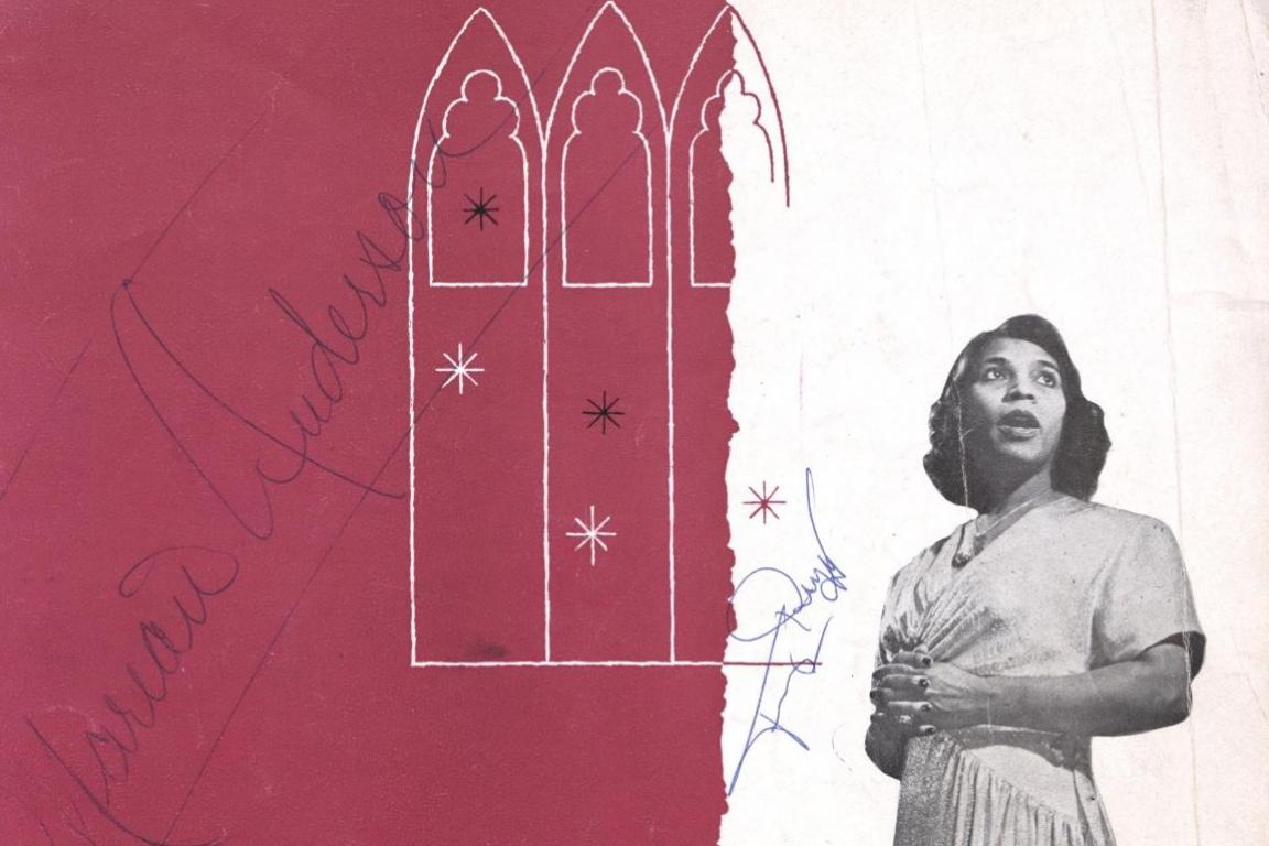 Promotional And Souvenir Program Autographed By Marian Anderson Collection Of The Smithsonian National Museum African American History Culture