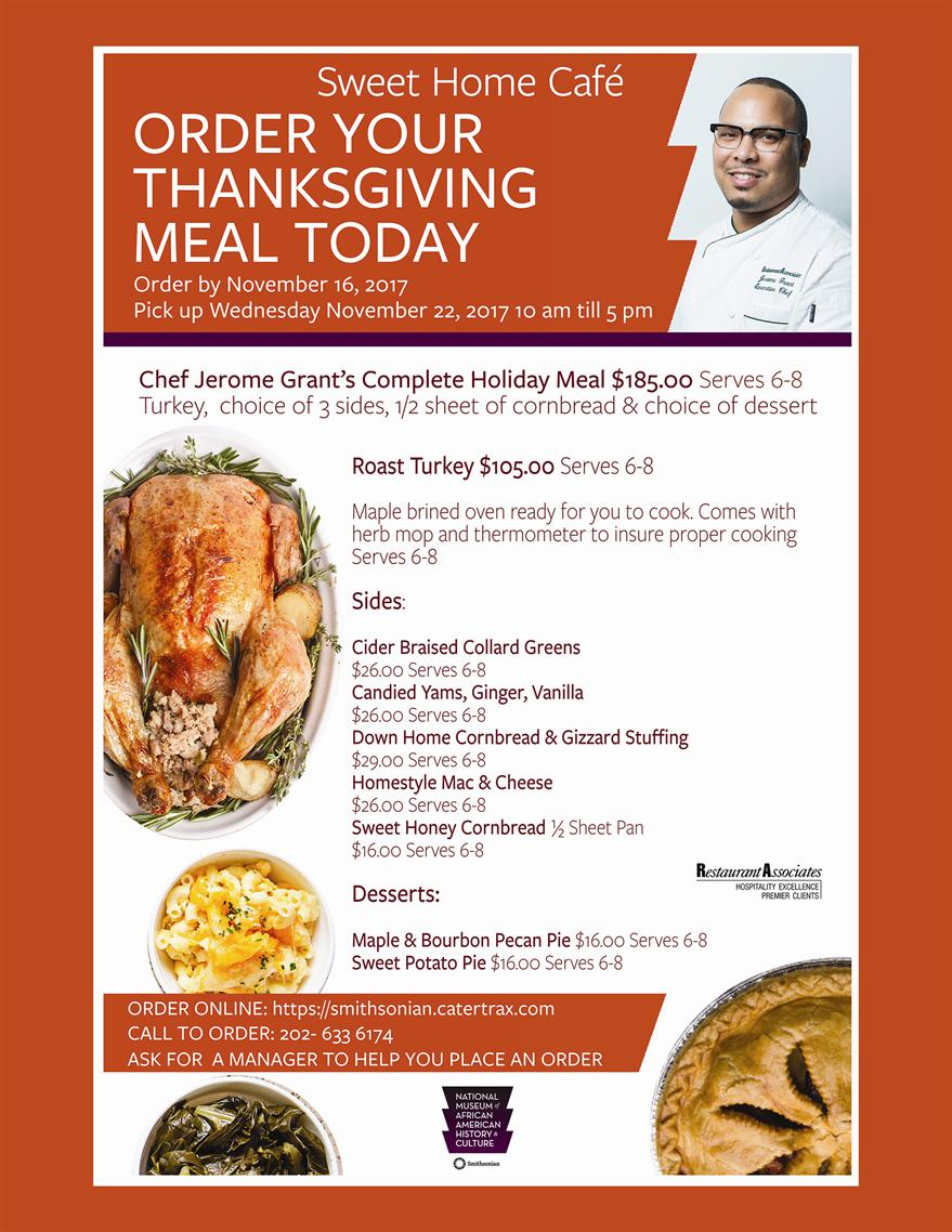 Have Your Thanksgiving Meal Catered by NMAAHC's Sweet Home Café!
