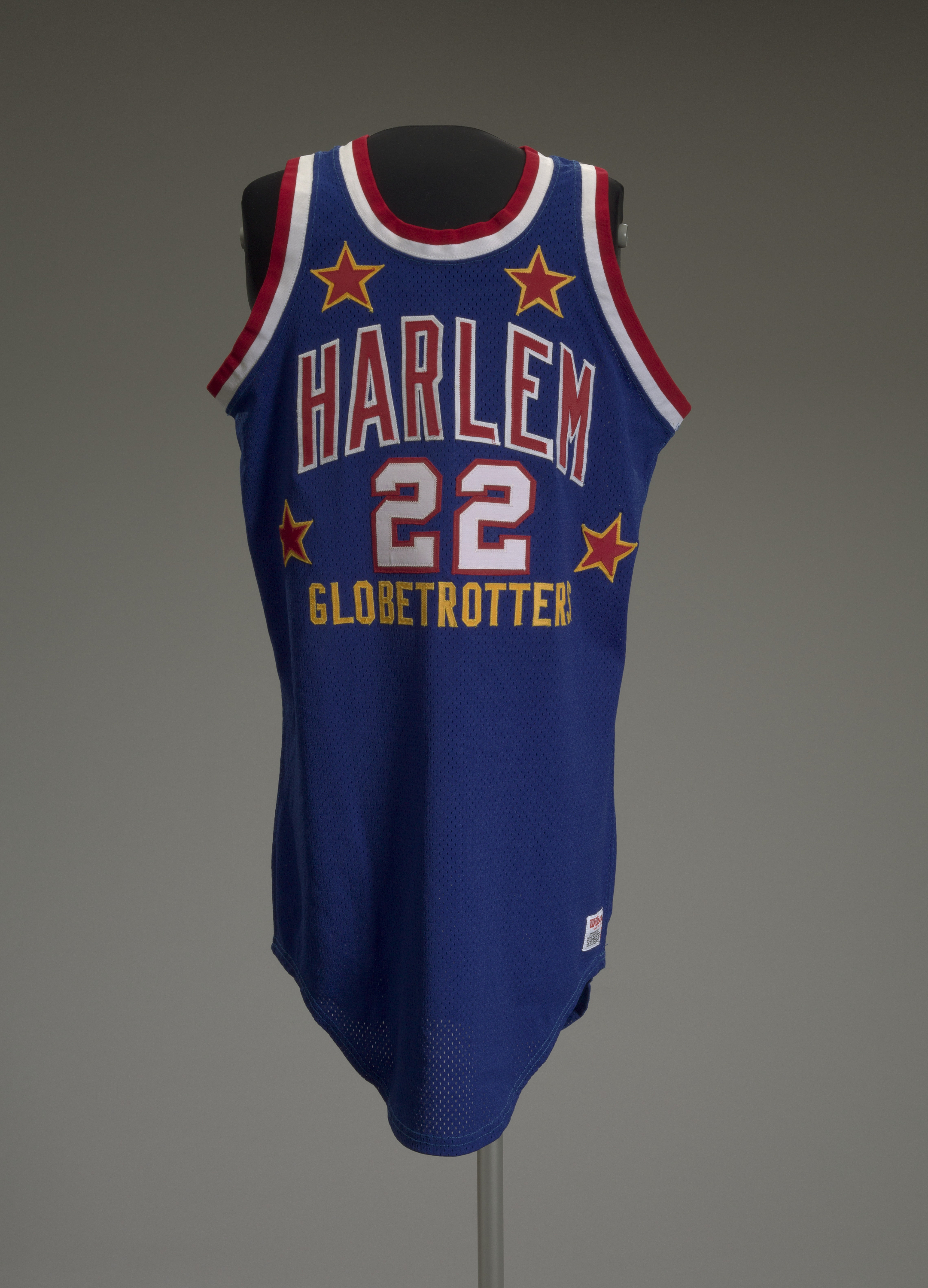 photo of basketball jersey of Harlem Globe Trotter Curly Neal #22