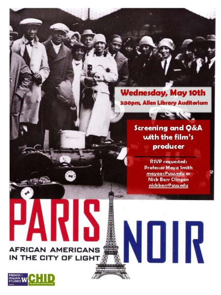 "Remembering World War I—""Paris Noir: African Americans in the City of Light"""