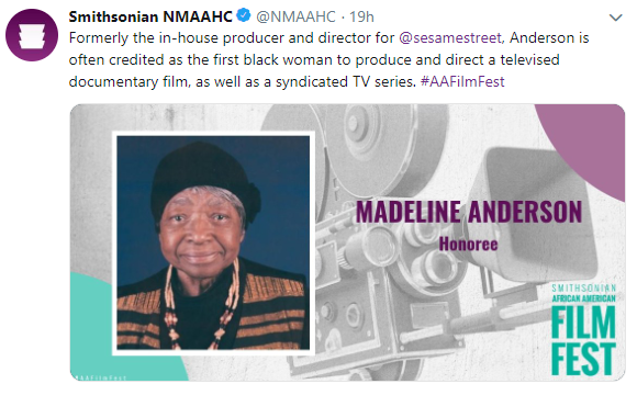 Film Festival Honoree Madeline Anderson