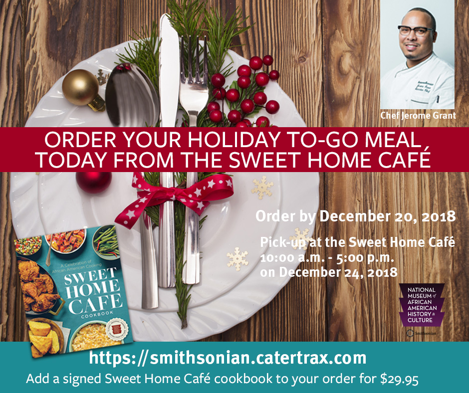 Order your December Holiday dinner with Sweet Home Cafe