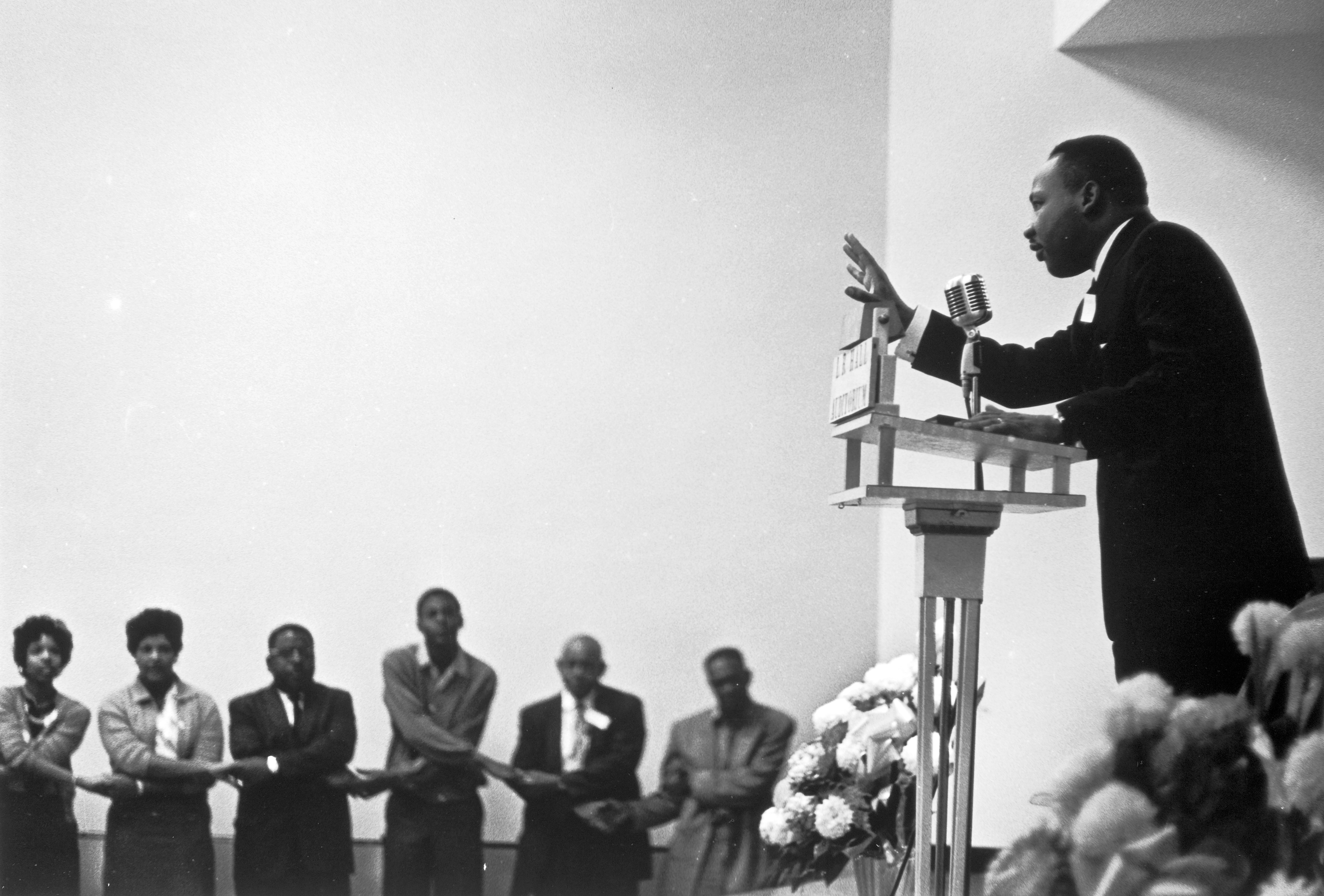 MLK delivering a speech; NMAAHC