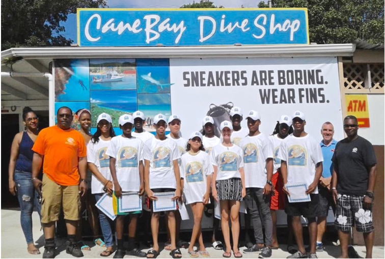 SWP Team in St. Croix at Cane Bay Dive Shop
